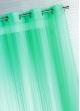 Voilage Fantaisie Tissé Uni  Turquoise