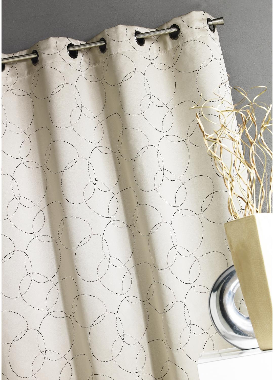 rideau beige tous les objets de d coration sur elle maison. Black Bedroom Furniture Sets. Home Design Ideas