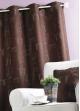 Rideau Jacquard Imprimé Mobilier Moka