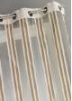 Voilage en Organza Rayures verticales  Beige
