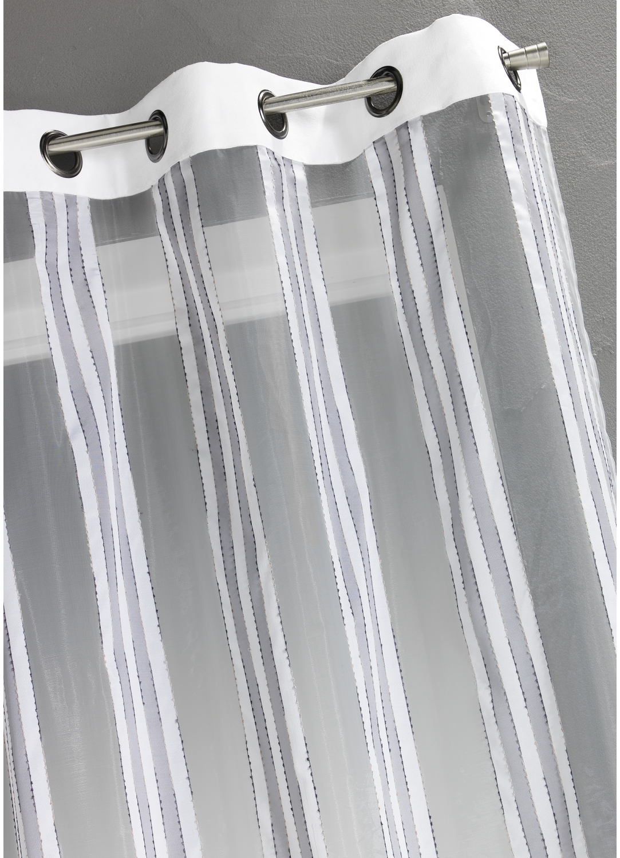 voilage en organza rayures verticales blanc bordeaux beige prune homemaison vente. Black Bedroom Furniture Sets. Home Design Ideas