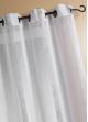 Voilage Etamine Rayures verticales  Blanc