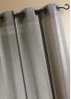 Voilage Etamine Rayures verticales  Gris