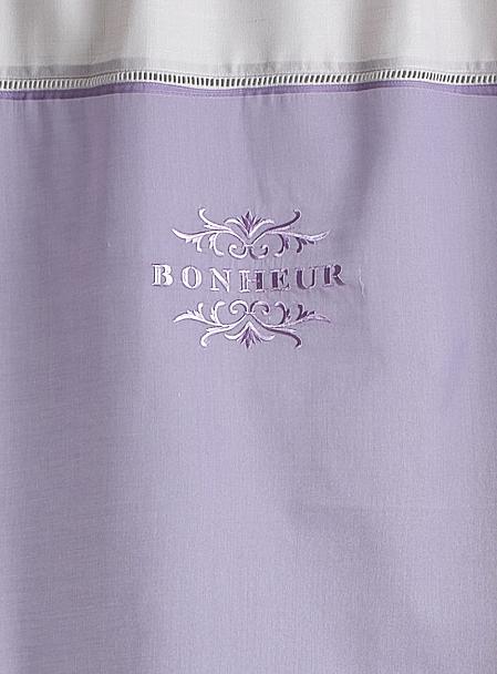 Voilage de Coton 'Bonheur' (Lilas)