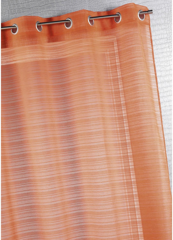 Voilage fantaisie à fines rayures (Orange)