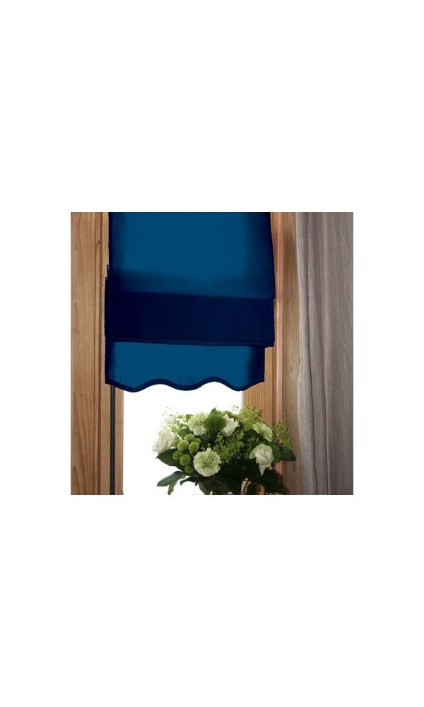 Store Bateau Tamisant Uni Base Vague (Bleu Marine)