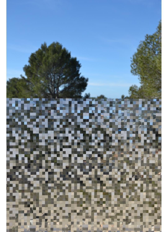 Film vitrostatique petits carrés (TRANSPARENT)