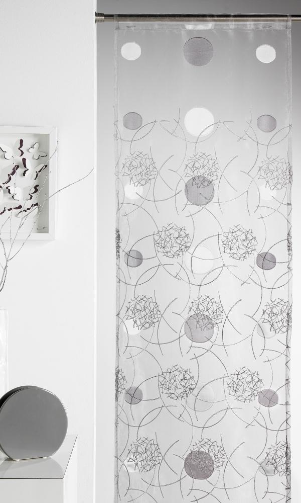 panneau japonais brod motifs lune gris achat panneaux japonais. Black Bedroom Furniture Sets. Home Design Ideas