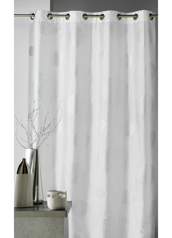 rideau argent blanc tous les objets de d coration sur elle maison. Black Bedroom Furniture Sets. Home Design Ideas