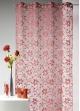Voilage fleurs brodées brillant BOUCHARA  Rouge