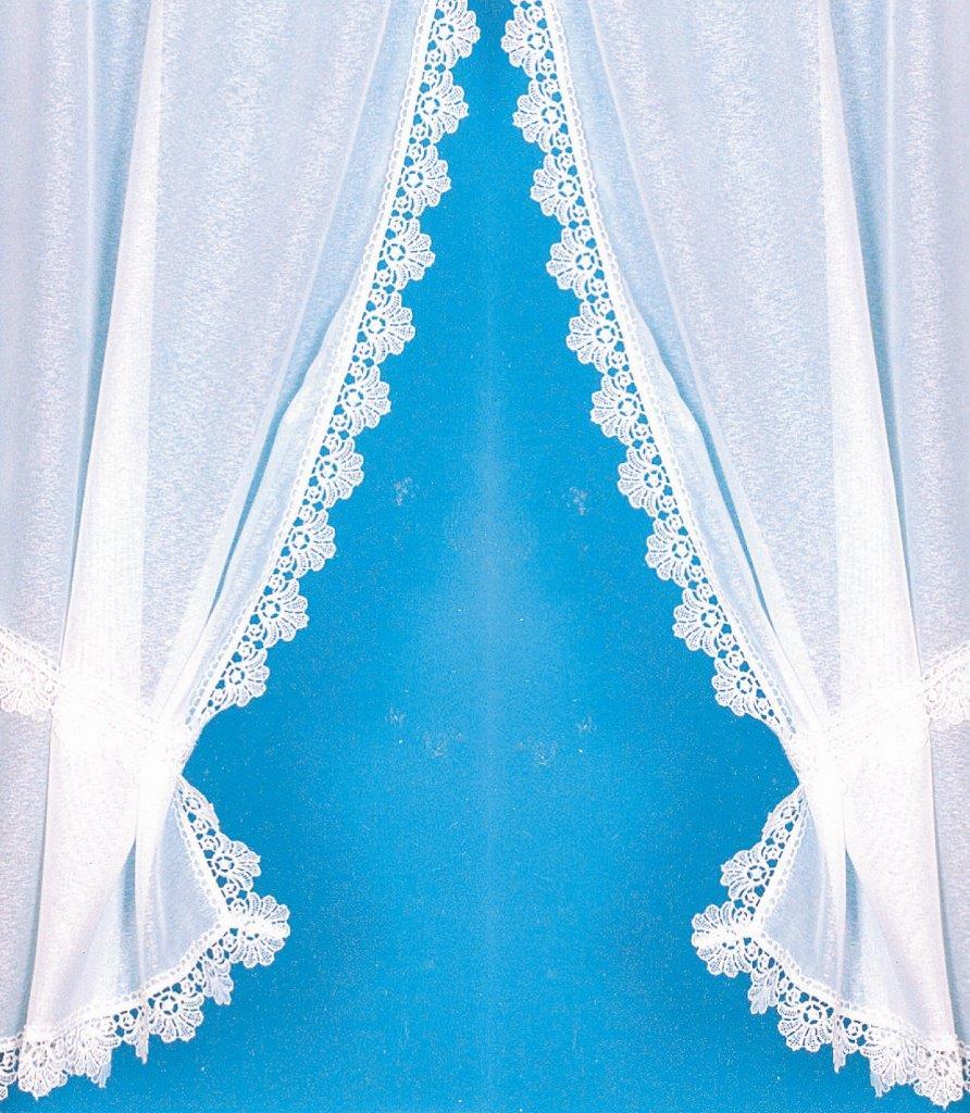 rideau bonne femme avec bordure macram brillant blanc homemaison vente en ligne petits. Black Bedroom Furniture Sets. Home Design Ideas