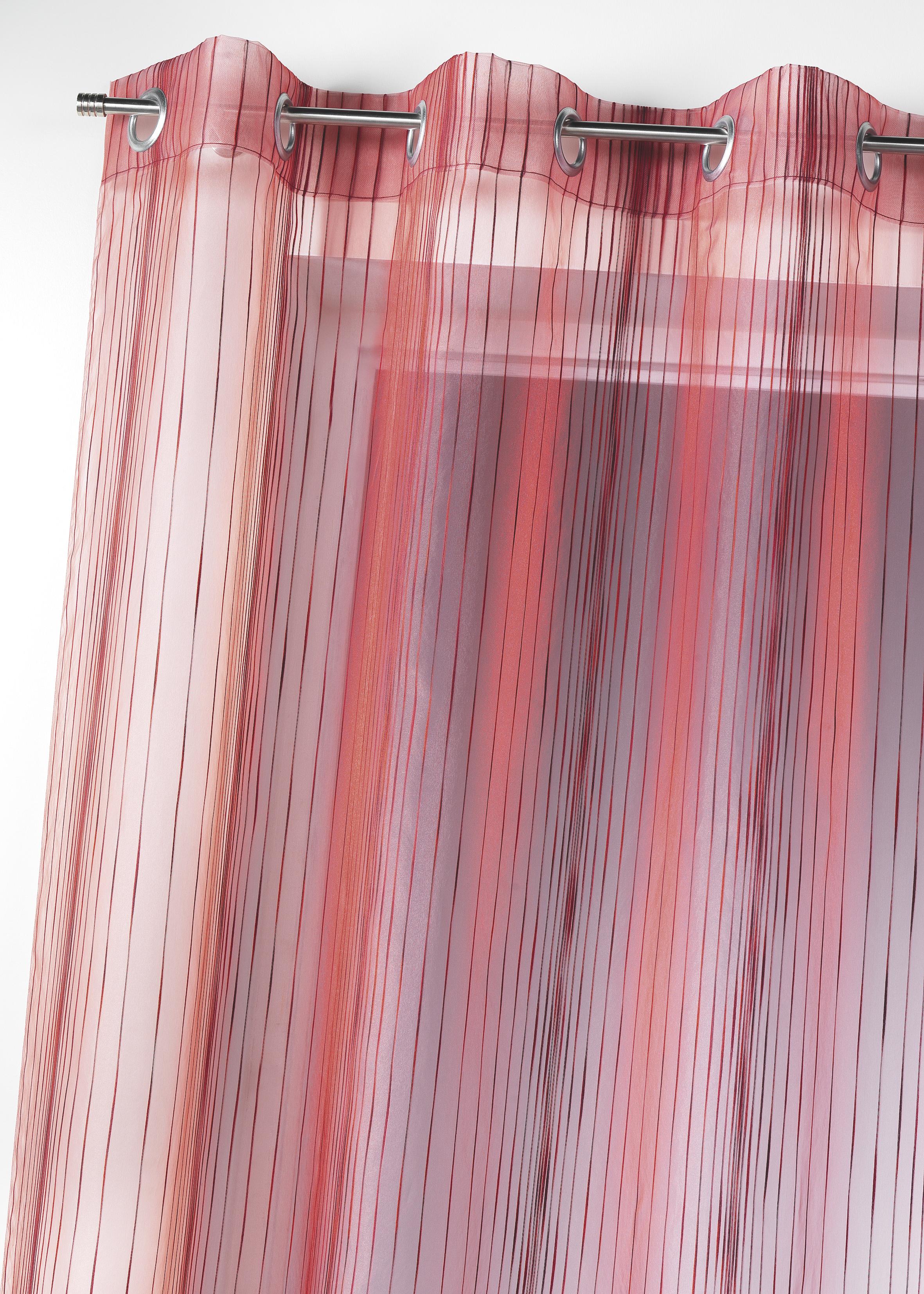 voilage bouchara en organza multicolore tiss homemaison vente en ligne voilages. Black Bedroom Furniture Sets. Home Design Ideas