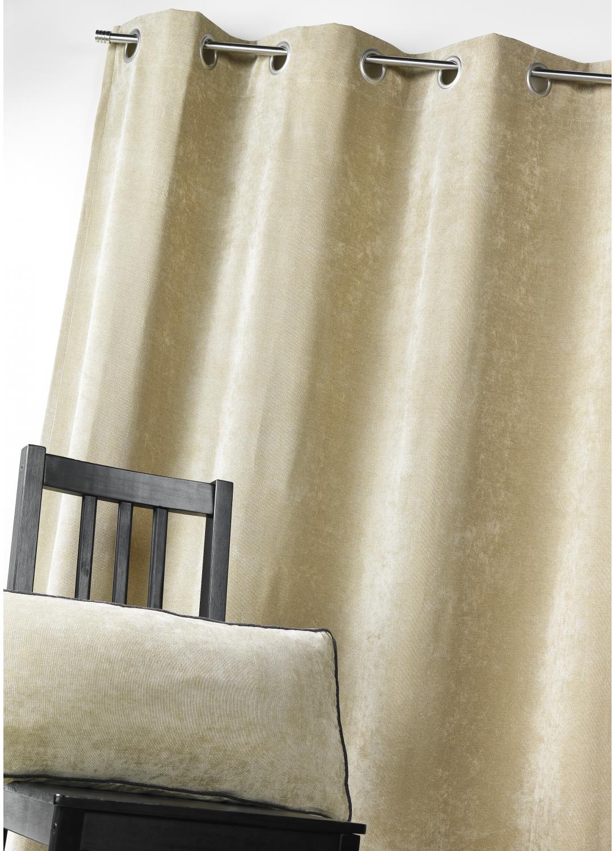 rideau d ameublement en velours uni bambou homemaison vente en ligne rideaux. Black Bedroom Furniture Sets. Home Design Ideas