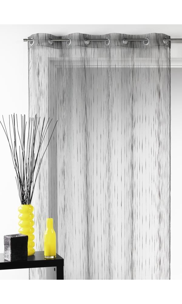 voilage bouchara en organza multicolore tiss gris blanc orange safran beige. Black Bedroom Furniture Sets. Home Design Ideas