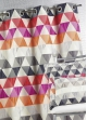 Rideau ameublement Jacquard 'triangles'  Mandarine