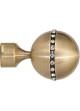 Paire d'Embouts 'diamant' pour barre Ø 28 mm Dorée