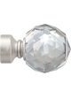Paire d'Embouts 'crystal' pour barre Ø 28 mm Nickel