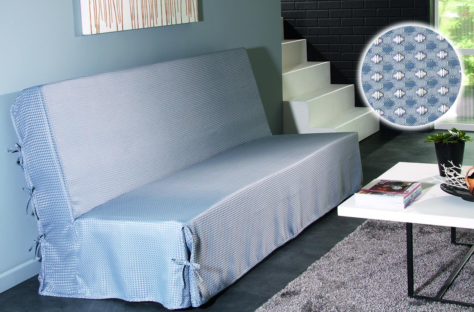 housse de clic clac nouettes moderne piqu gris noir blanc taupe ecru prune. Black Bedroom Furniture Sets. Home Design Ideas