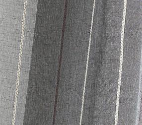 Paire de vitrages en étamine à rayures verticales (Anthracite)