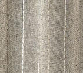Paire de vitrages en étamine à rayures verticales (Taupe)
