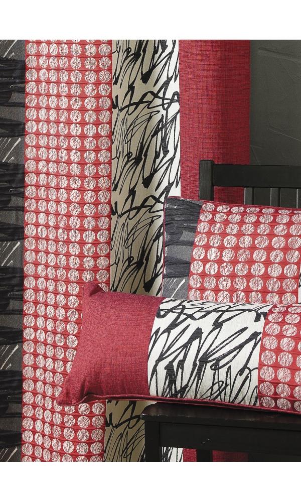 Coussin en jacquard rayures verticales 45 x 45