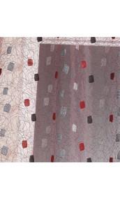 Paire de vitrage en organza à motifs brodés