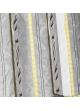 Paire de vitrage etnique à rayures verticales  Bambou