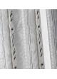 Paire de vitrage etnique à rayures verticales  Gris