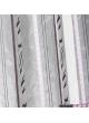 Paire de vitrage etnique à rayures verticales  Parme