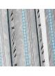 Paire de vitrage etnique à rayures verticales  Bleu Pétrole