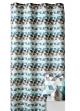 Rideau d'ameublement motifs triangles  Bleu Pétrole