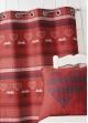 Rideau d'ameublement jacquard à motifs  Bordeaux