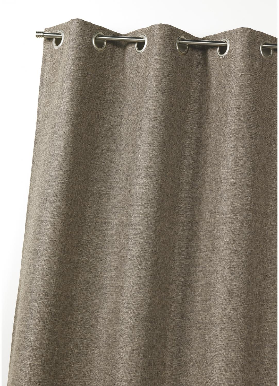 rideau d ameublement occultant uni doubl taupe figue bordeaux gris ecru. Black Bedroom Furniture Sets. Home Design Ideas