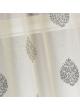 Paire de vitrage en étamine à motifs brodés  Taupe