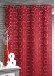 Rideau obscurcissant à motifs argentés Rouge