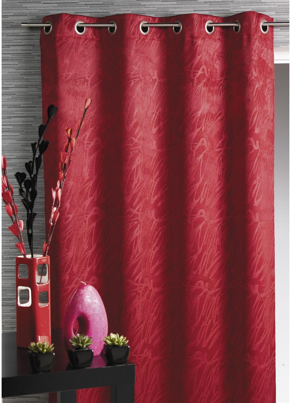 rideau obscurcissant frapp rouge ivoire lin prune chocolat homemaison vente. Black Bedroom Furniture Sets. Home Design Ideas