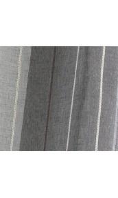 Paire de vitrages en étamine à rayures verticales