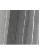 Paire de vitrages en étamine à rayures verticales  Anthracite