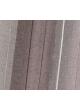 Paire de vitrages en étamine à rayures verticales  Prune