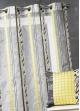 Voilage en organza à fines rayures zébrées  Bambou