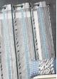 Voilage en organza à fines rayures zébrées  Bleu Pétrole