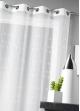 Voilage en étamine brodée avec motifs ronds   Blanc