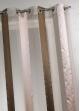 Voilage bicolore à rayures verticales  Bois de Rose