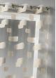 Voilage en organza jacquard et briques colorées  Beige