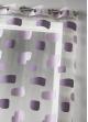 Voilage en organza jacquard et briques colorées  Parme