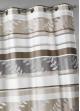 Voilage en organza à rayures et motifs feuilles  Beige