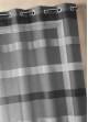 Voilage tissé à rayures horizontales dégradées  Anthracite