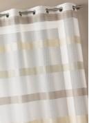 Voilage tissé à rayures horizontales dégradées