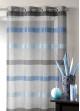 Voilage tissé à rayures horizontales dégradées  Bleu