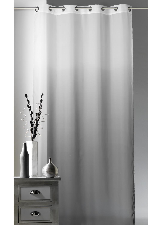 voilage fantaisie ombre effet d grad gris homemaison vente en ligne voilages. Black Bedroom Furniture Sets. Home Design Ideas